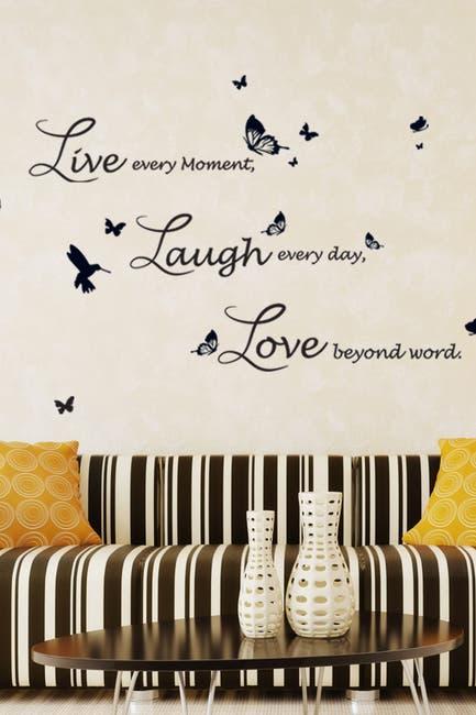 Image of WalPlus Lucida Live Laugh Love Decal