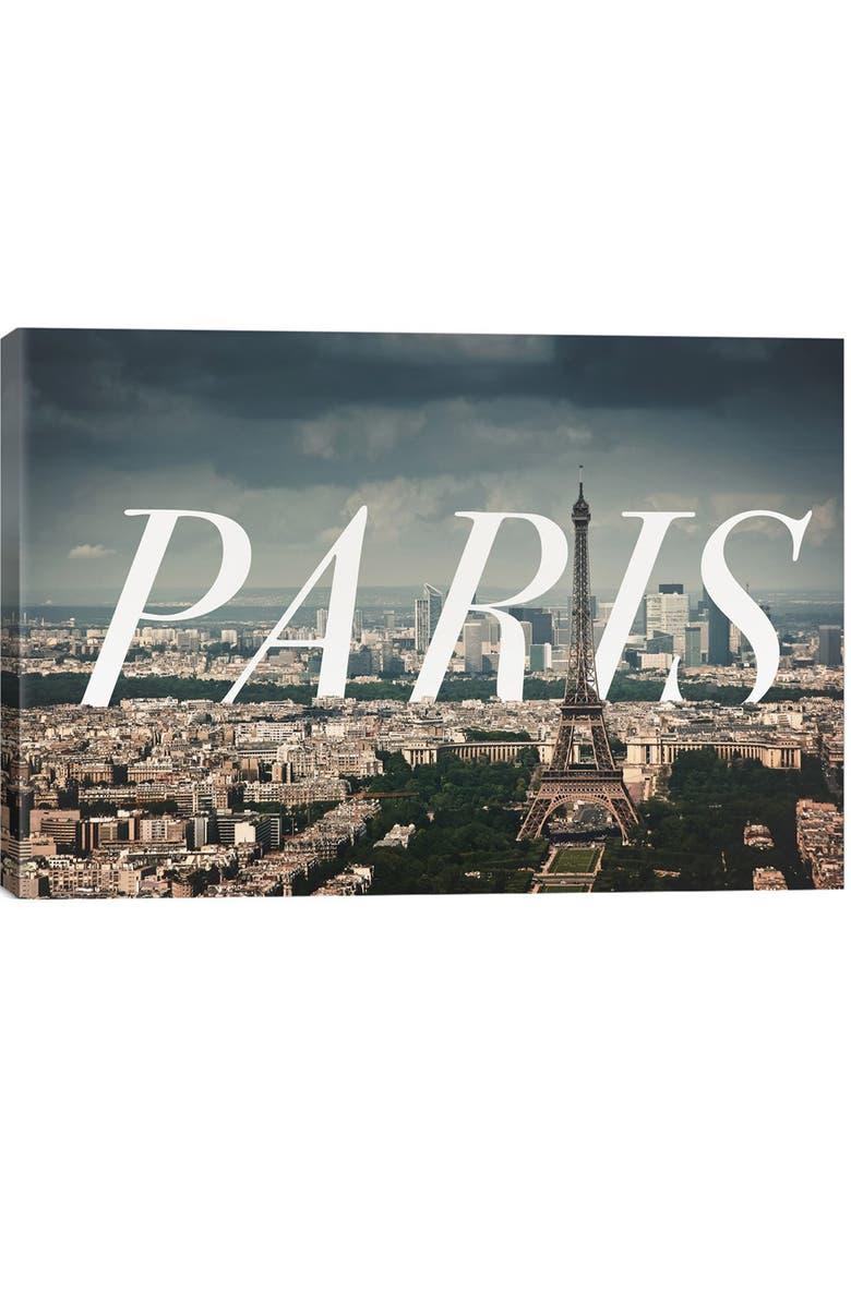 ICANVAS 'Paris' Giclée Print Canvas Art, Main, color, GREY