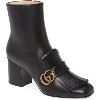 Gucci Gg Marmont Fringe Bootie