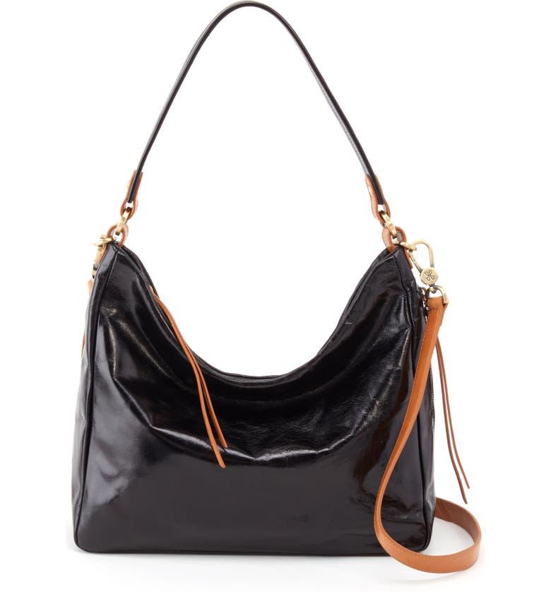 HOBO Delilah Convertible Hobo Bag, Main, color, BLACK