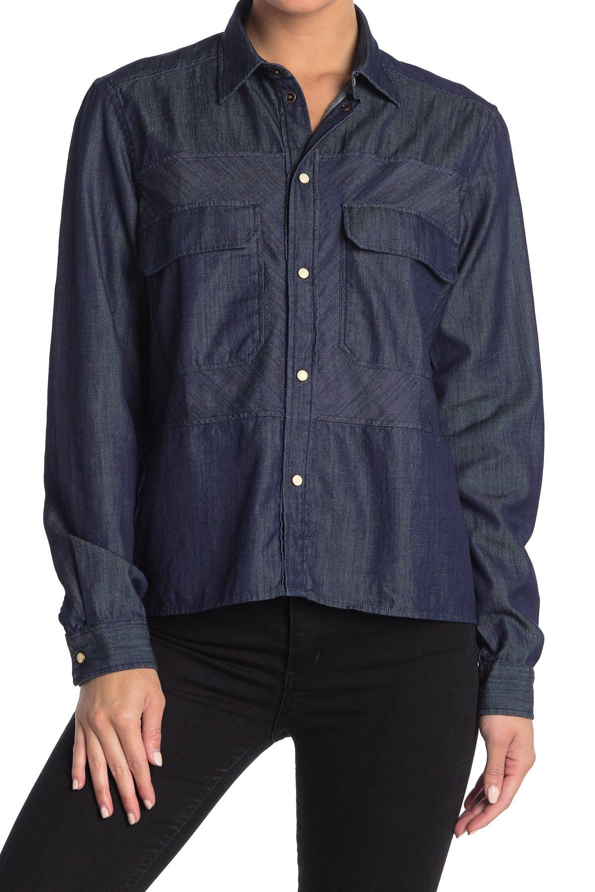 Image of Billy Reid Blocked Overshirt