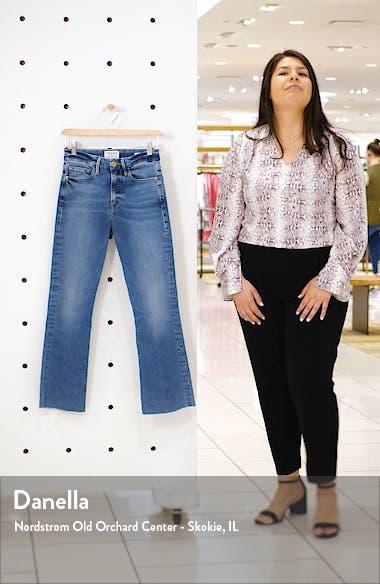 Le Crop High Waist Mini Boot Raw Edge Jeans, sales video thumbnail