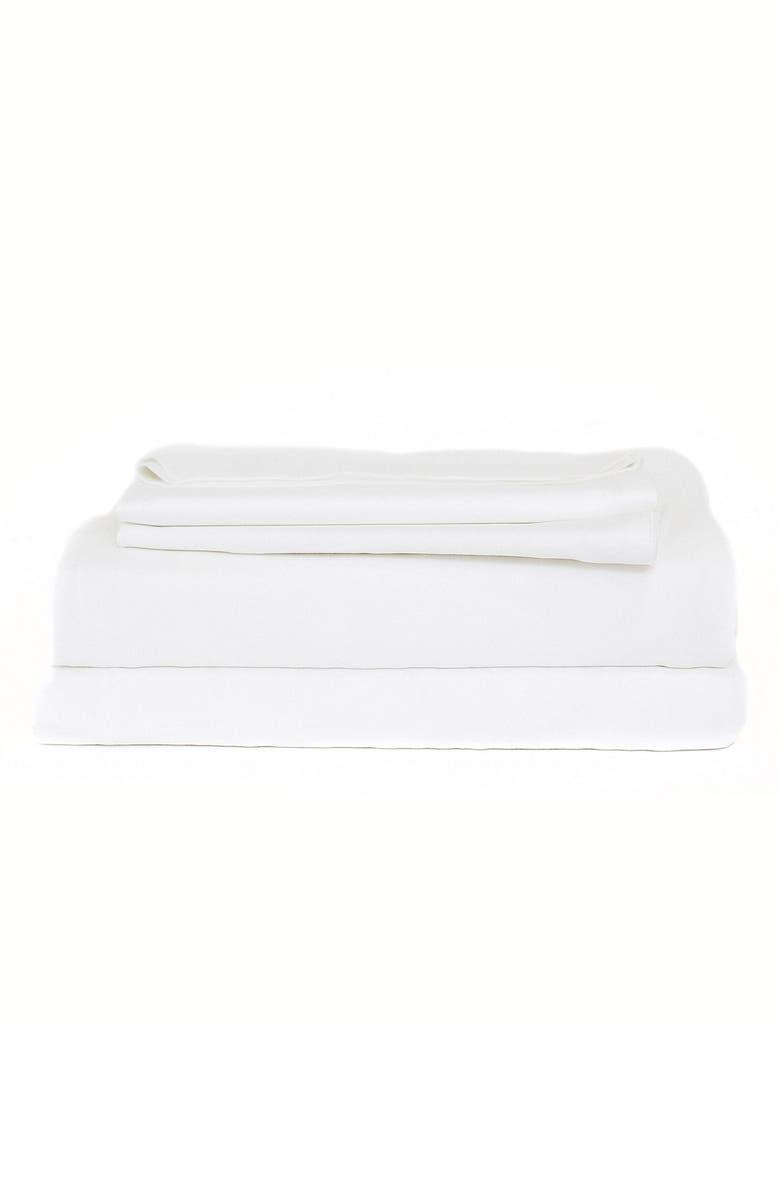 COZY EARTH Sheet Set, Main, color, WHITE