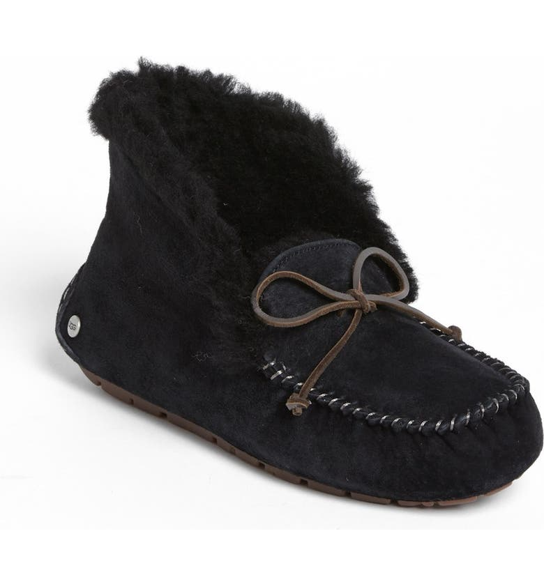 UGG<SUP>®</SUP> UGGpure<sup>™</sup> Alena Suede Slipper Bootie, Main, color, BLACK