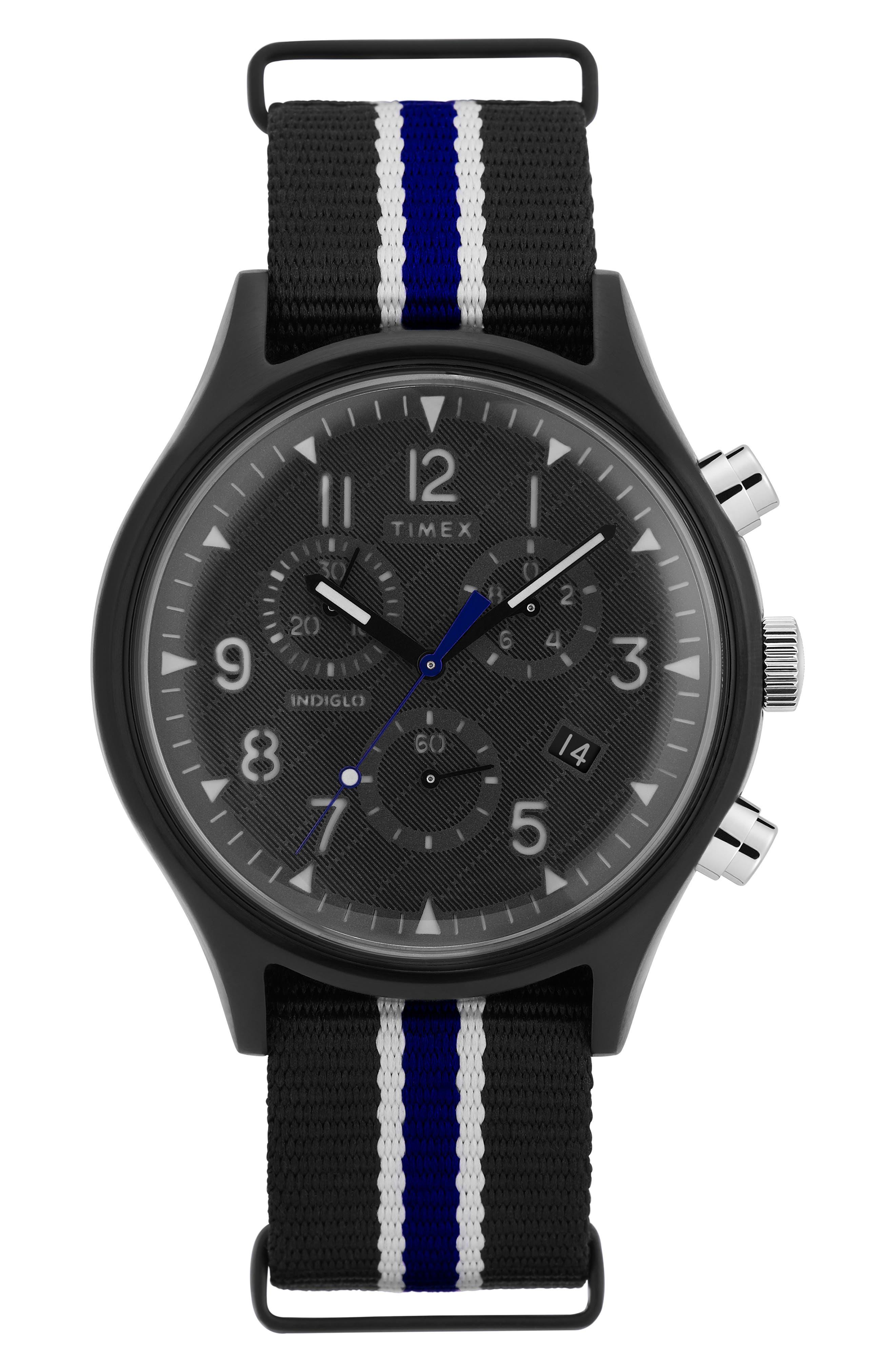 Timex Mk1 Chronograph Fabric Strap Watch, 42Mm