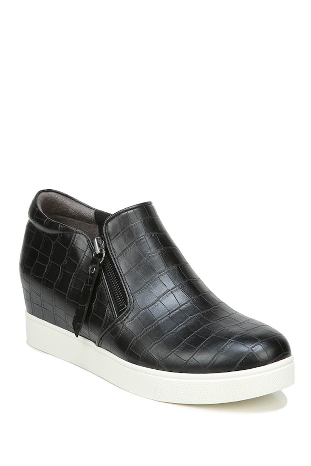 Image of Dr. Scholl's It's All Good Croc Embossed Wedge Sneaker