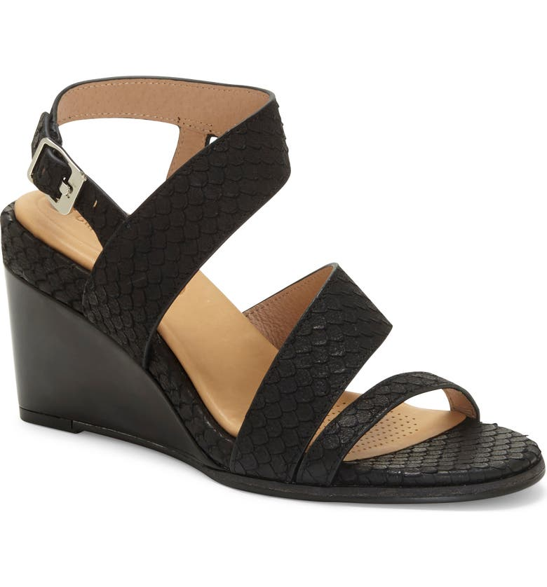 CC CORSO COMO<SUP>®</SUP> Nashila Wedge Sandal, Main, color, BLACK LEATHER