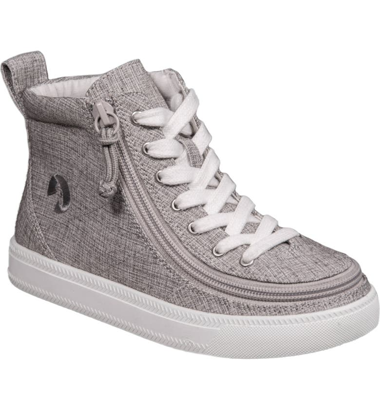 BILLY FOOTWEAR Zip Around High Top Sneaker, Main, color, GREY JERSEY