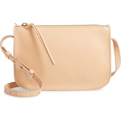 Madewell The Simple Leather Crossbody Bag - Beige