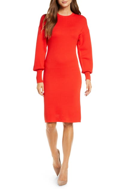 Vince Camuto Dresses LONG SLEEVE SWEATER DRESS