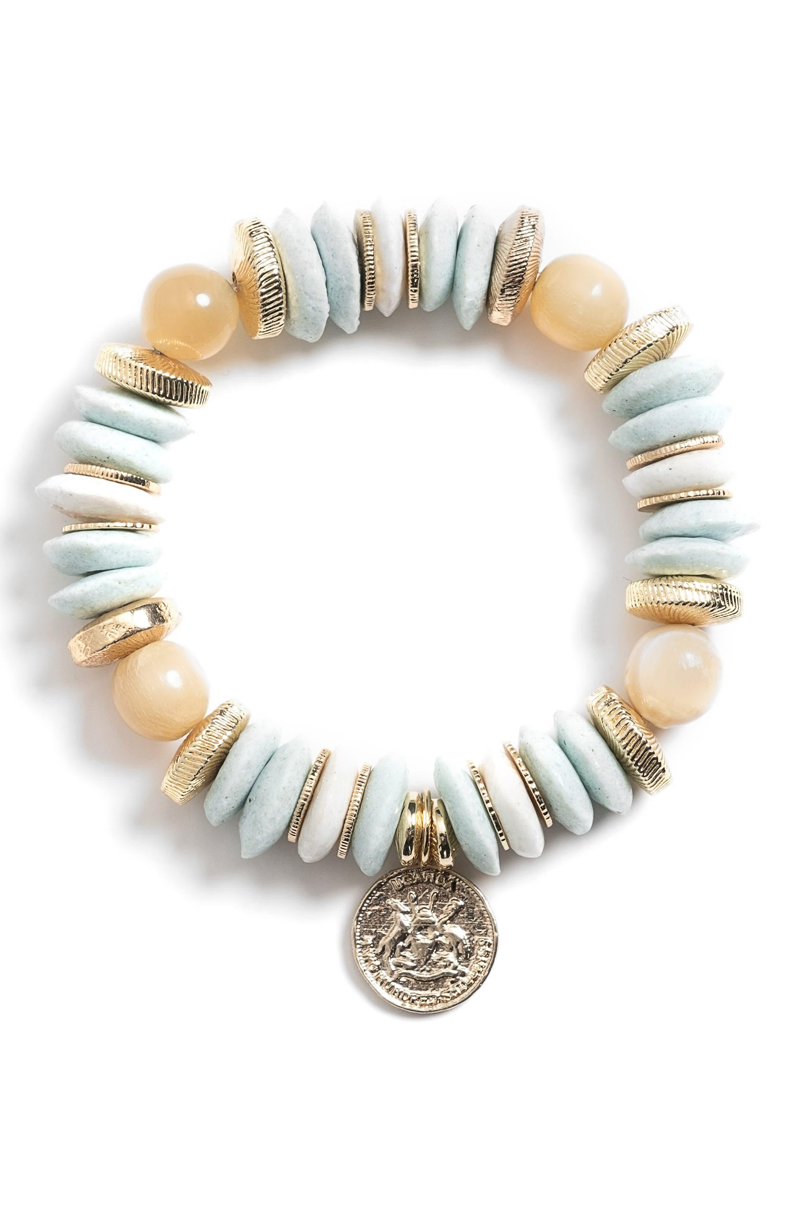 Bluebell Ugandan Coin Charm Bracelet