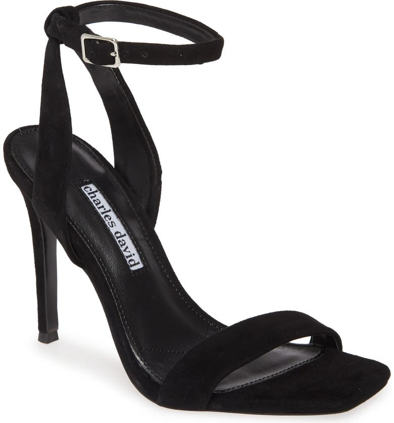 CHARLES DAVID Voltage Sandal, Main, color, BLACK SUEDE