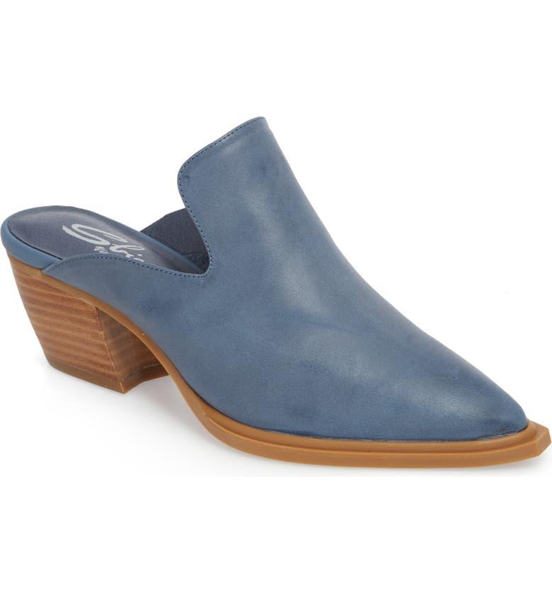 SBICCA Louisa Loafer Mule, Main, color, BLUE