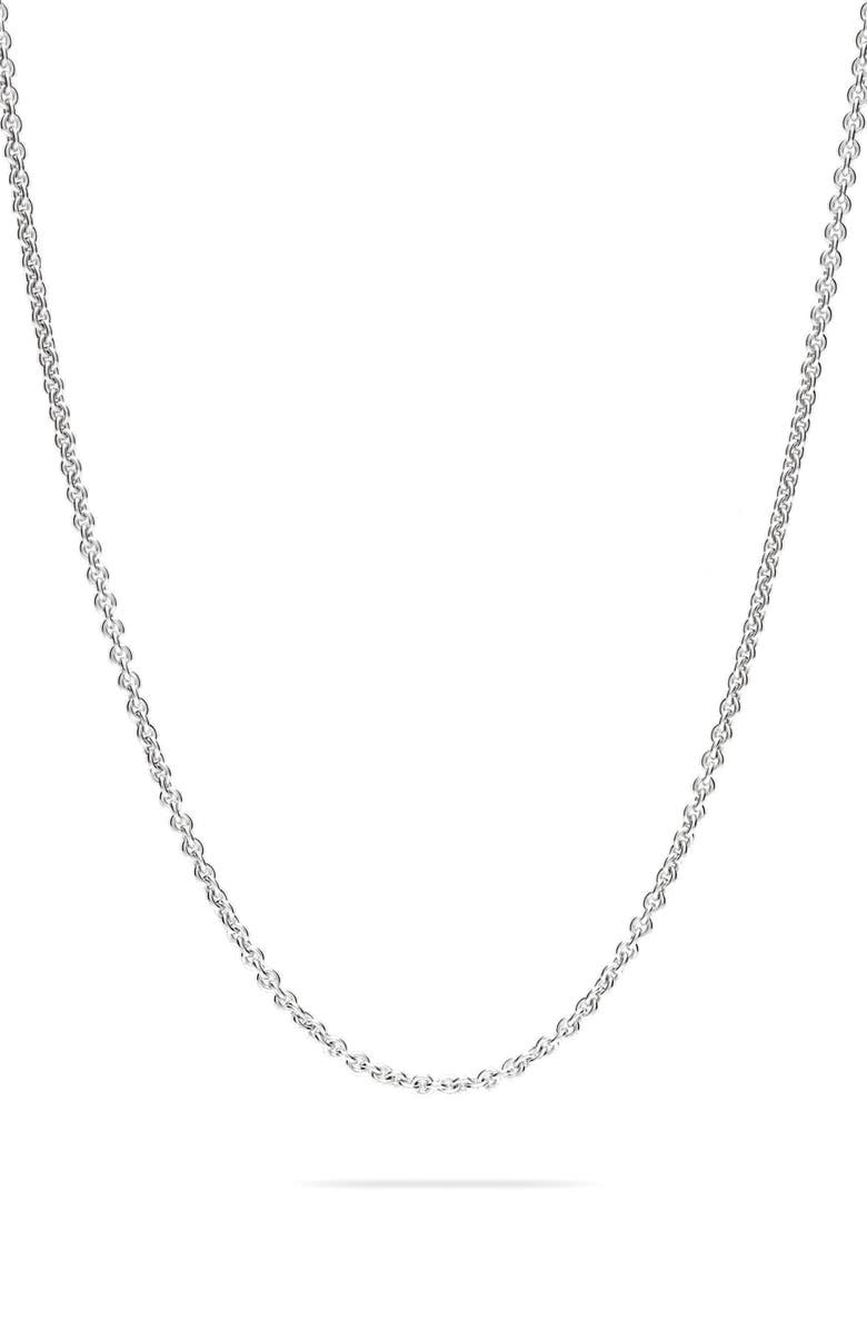 TOM WOOD Rolo Silver Chain Necklace, Main, color, 925 STERLING SILVER