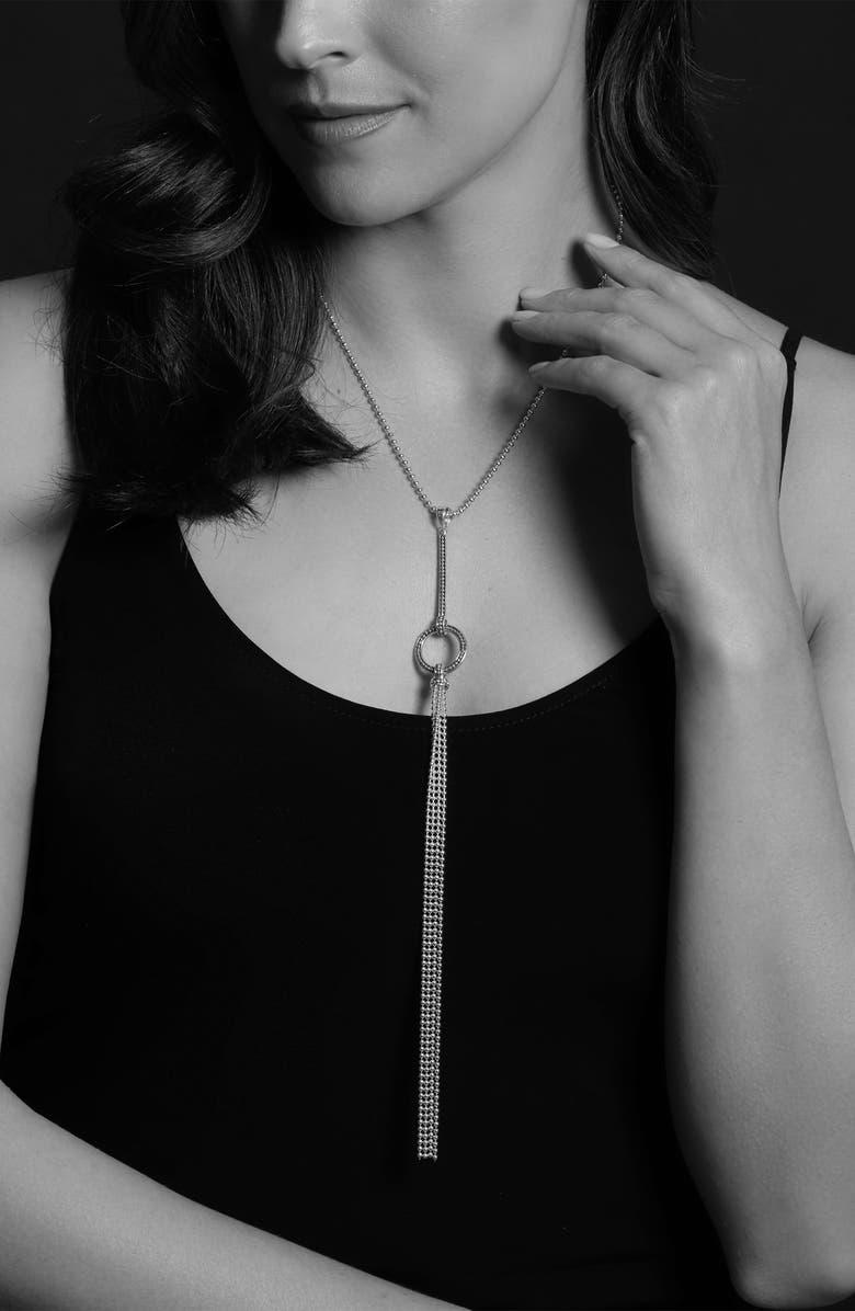 LAGOS Enso Circle Tassel Pendant Necklace