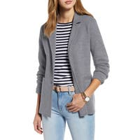 Deals on Stretch Wool Blend Sweater Blazer