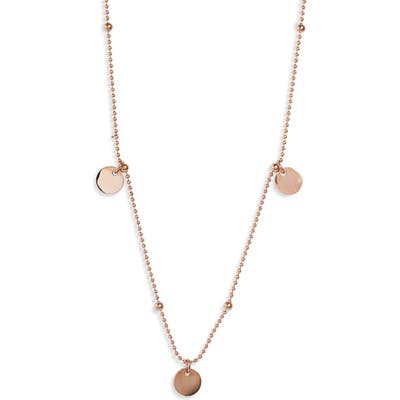 Knotty Disc Charm Necklace