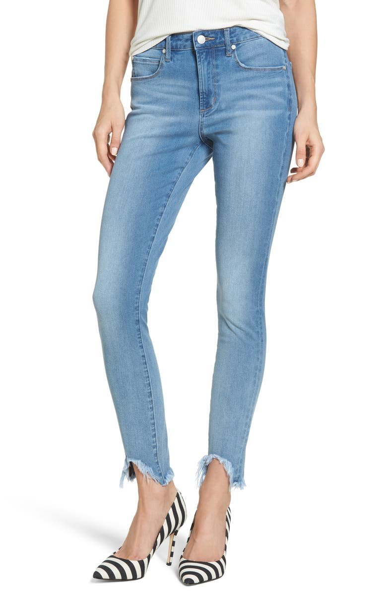 LEITH Fray Step Hem Skinny Jeans, Main, color, 420