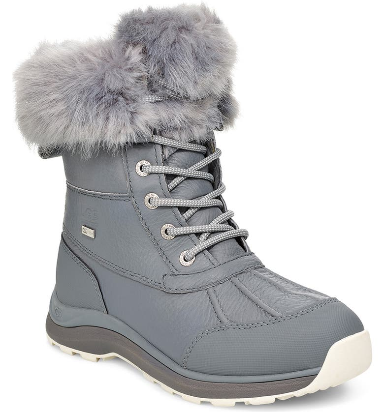 UGG<SUP>®</SUP> Adirondack III Waterproof Boot, Main, color, GEYSER LEATHER