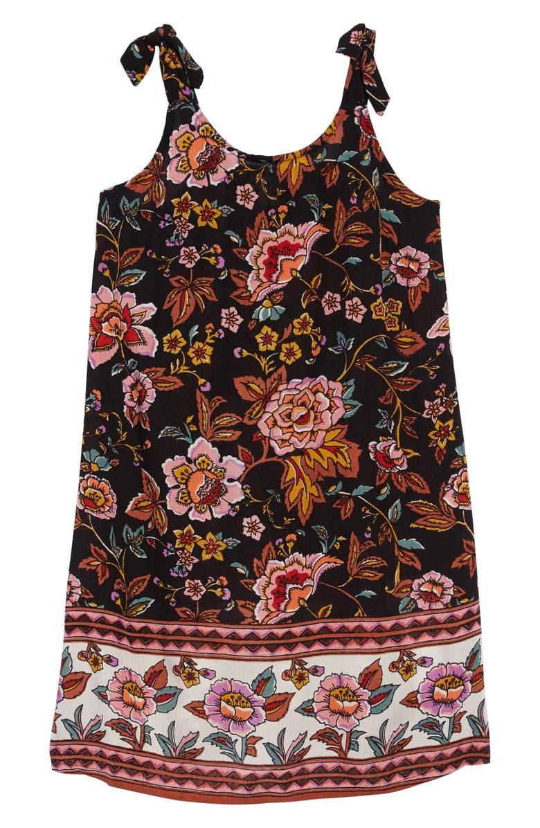 BILLABONG Night Envy Tank Dress, Main, color, BLACK