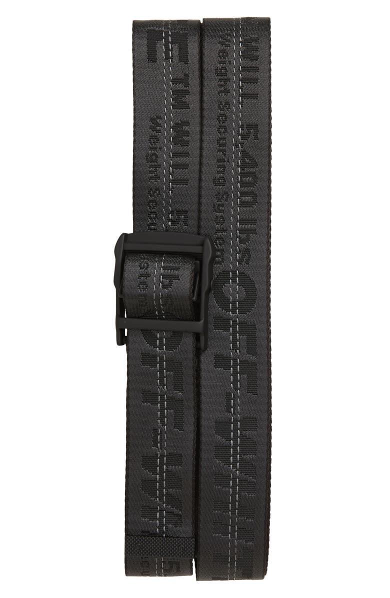 OFF-WHITE Industrial Webbing Belt, Main, color, 100