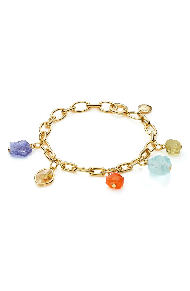 MONICA VINADER x Caroline Issa Gemstone Bracelet, Main, color, YELLOW GOLD