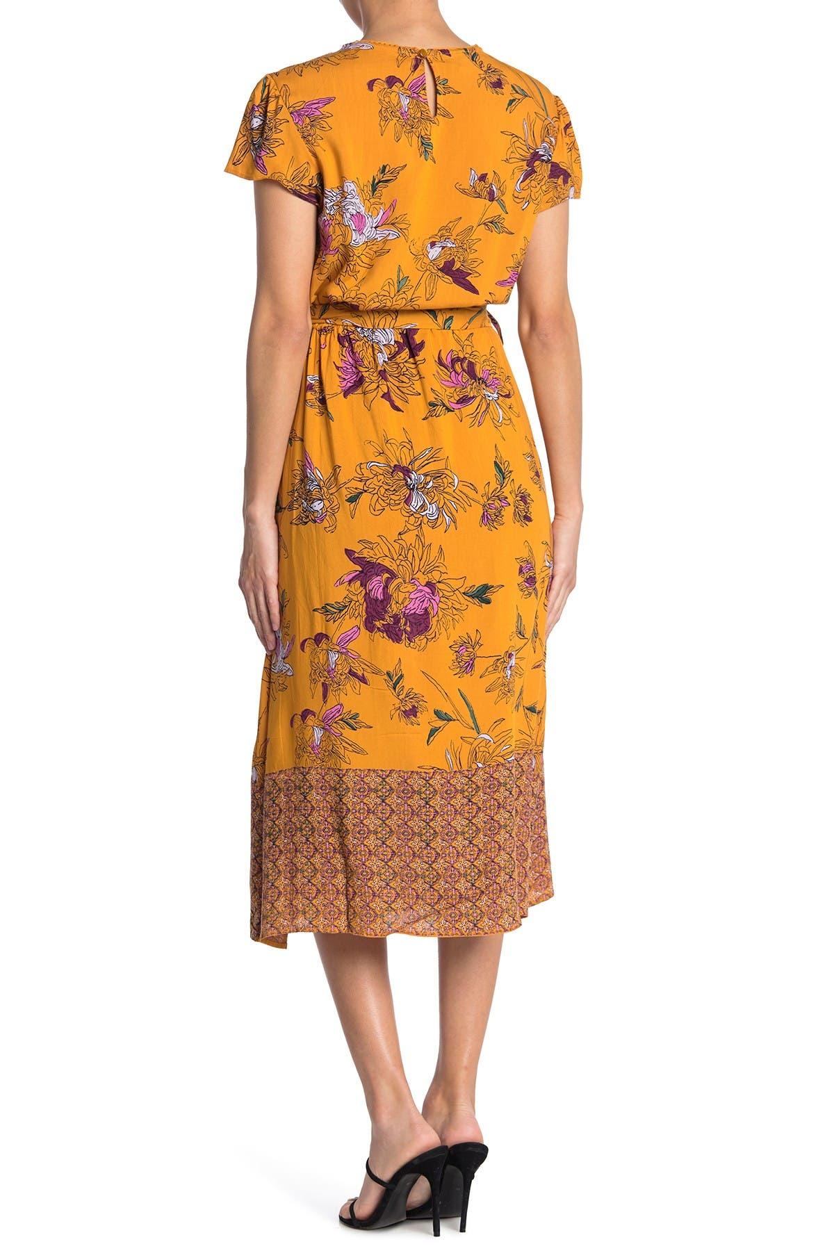 Image of Angie V-Neck Cap Sleeve Midi Dress