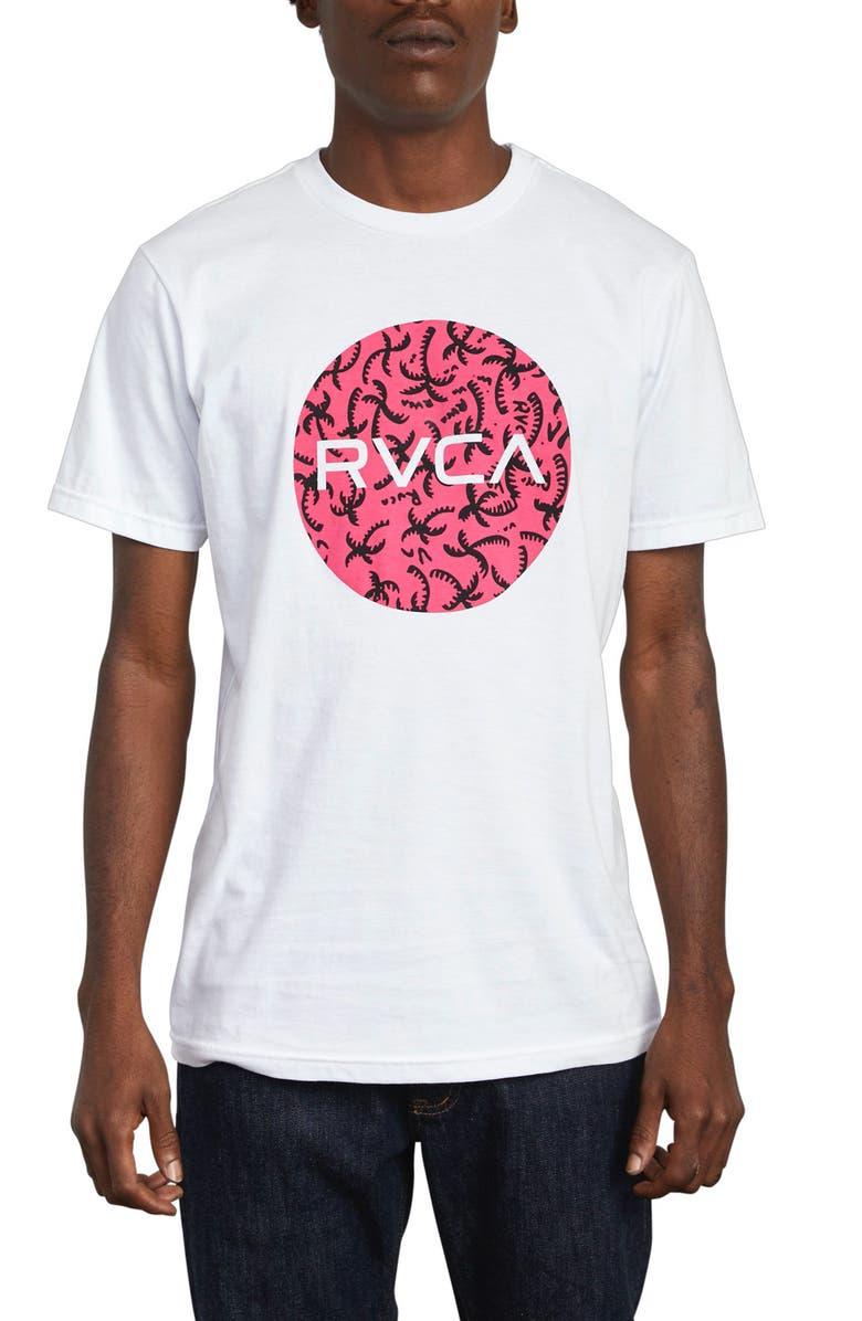 RVCA Motors Fill Graphic T-Shirt, Main, color, WHITE