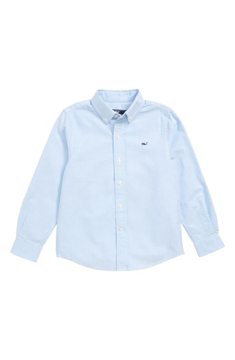 VINEYARD VINES Woven Oxford Shirt, Main, color, OCEAN BREEZE