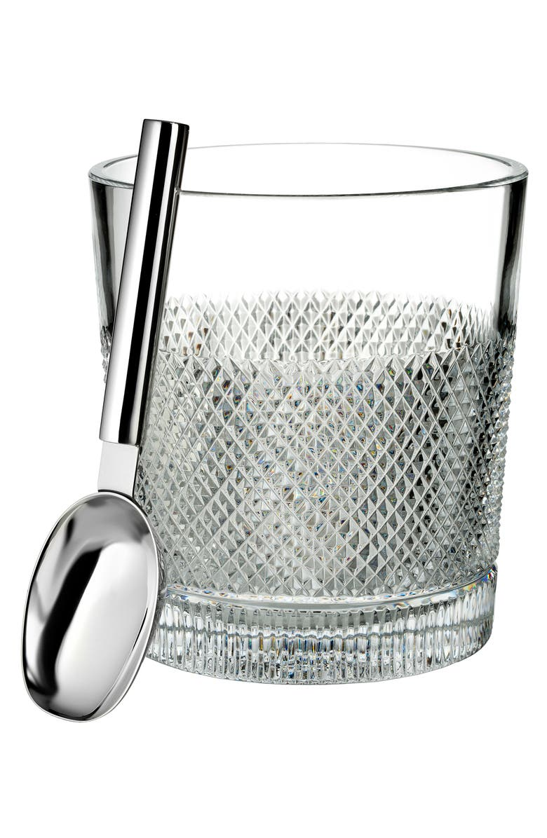 WATERFORD Lead Crystal Ice Bucket with Scoop, Main, color, CRYSTAL