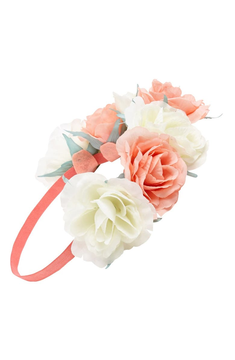 CAPELLI NEW YORK Capelli of New York Oversized Floral Crown Headband, Main, color, 800