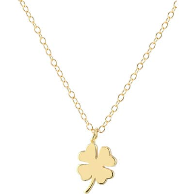 Kris Nations Clover Charm Necklace