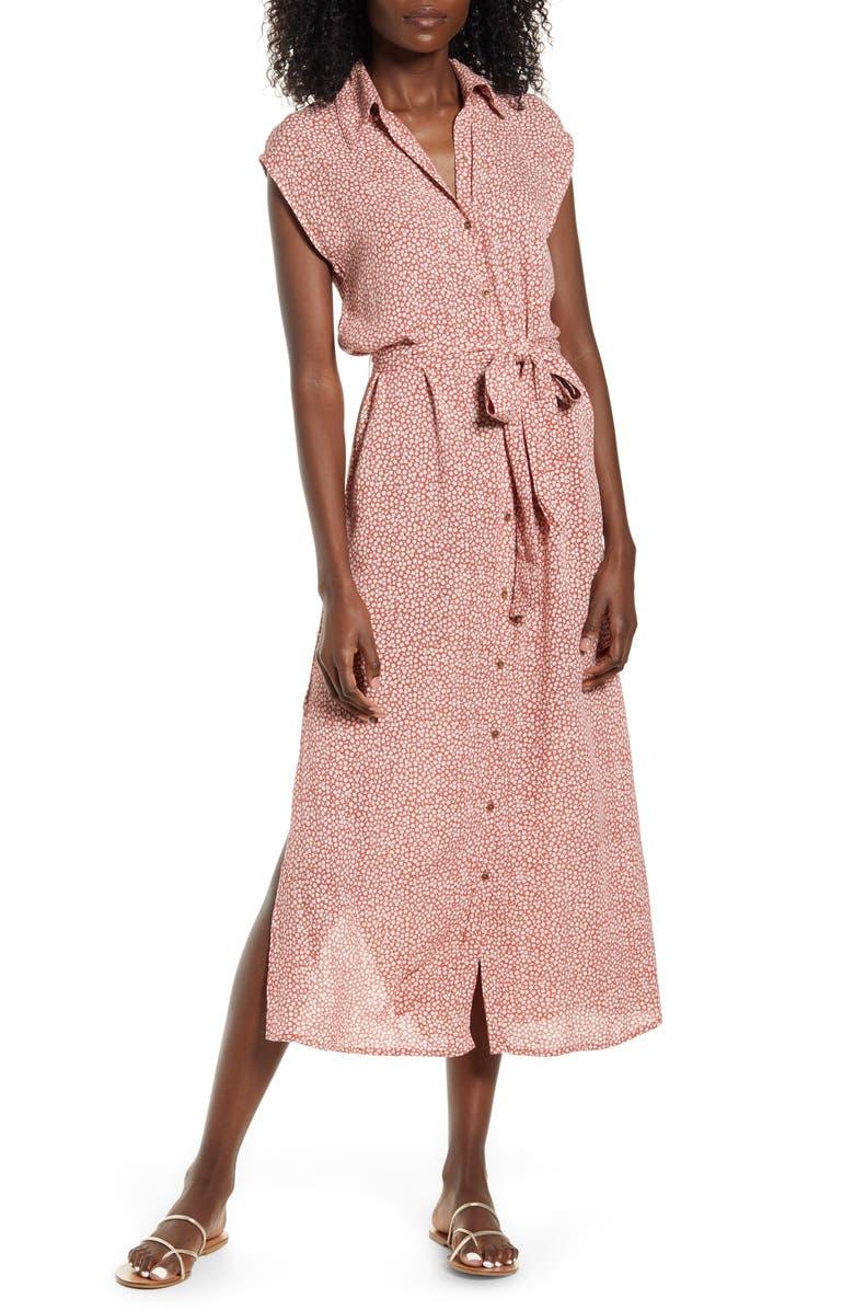 BILLABONG Little Flirt Midi Shirtdress, Main, color, 622