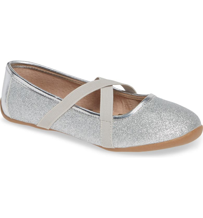 LIVIE & LUCA Aurora Ballet Flat, Main, color, SILVER