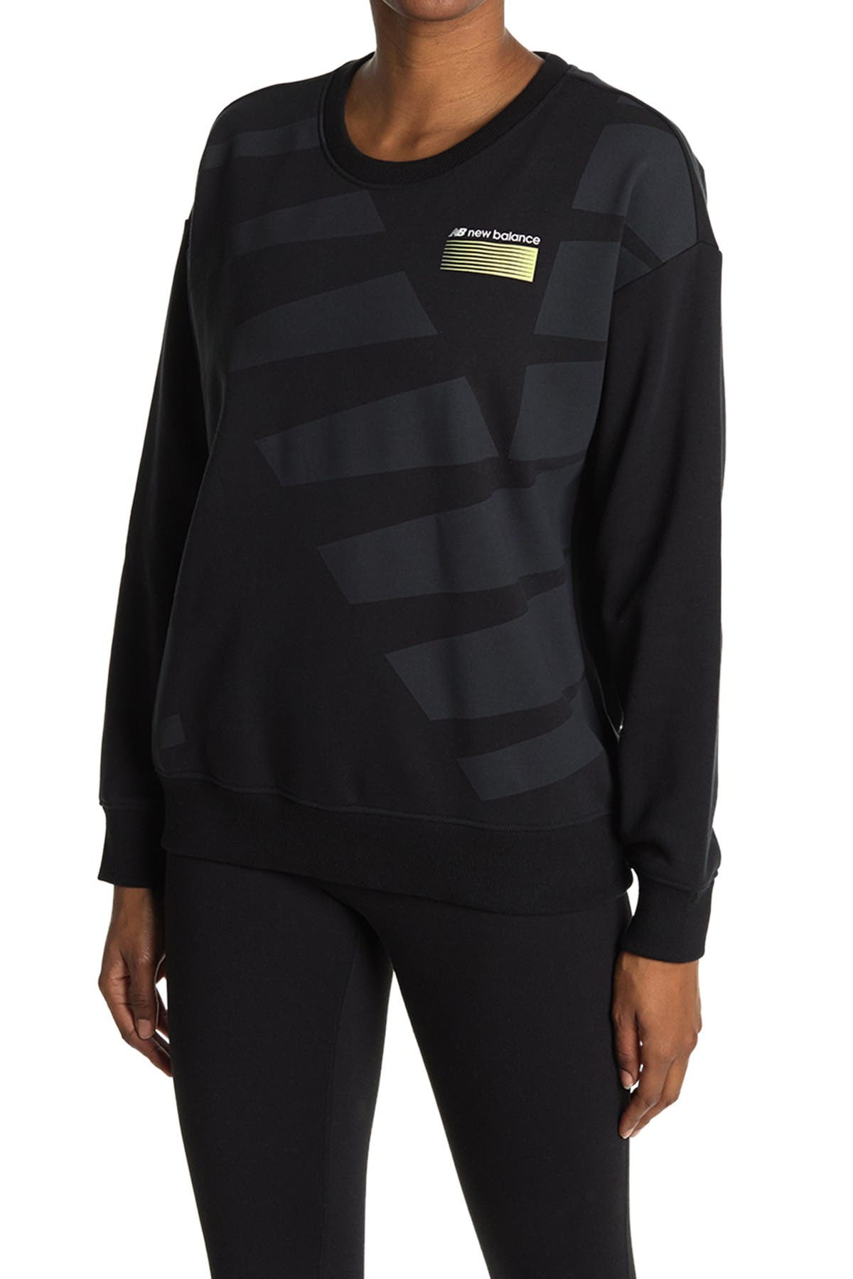Image of New Balance Optiks Logo Pullover Sweatshirt