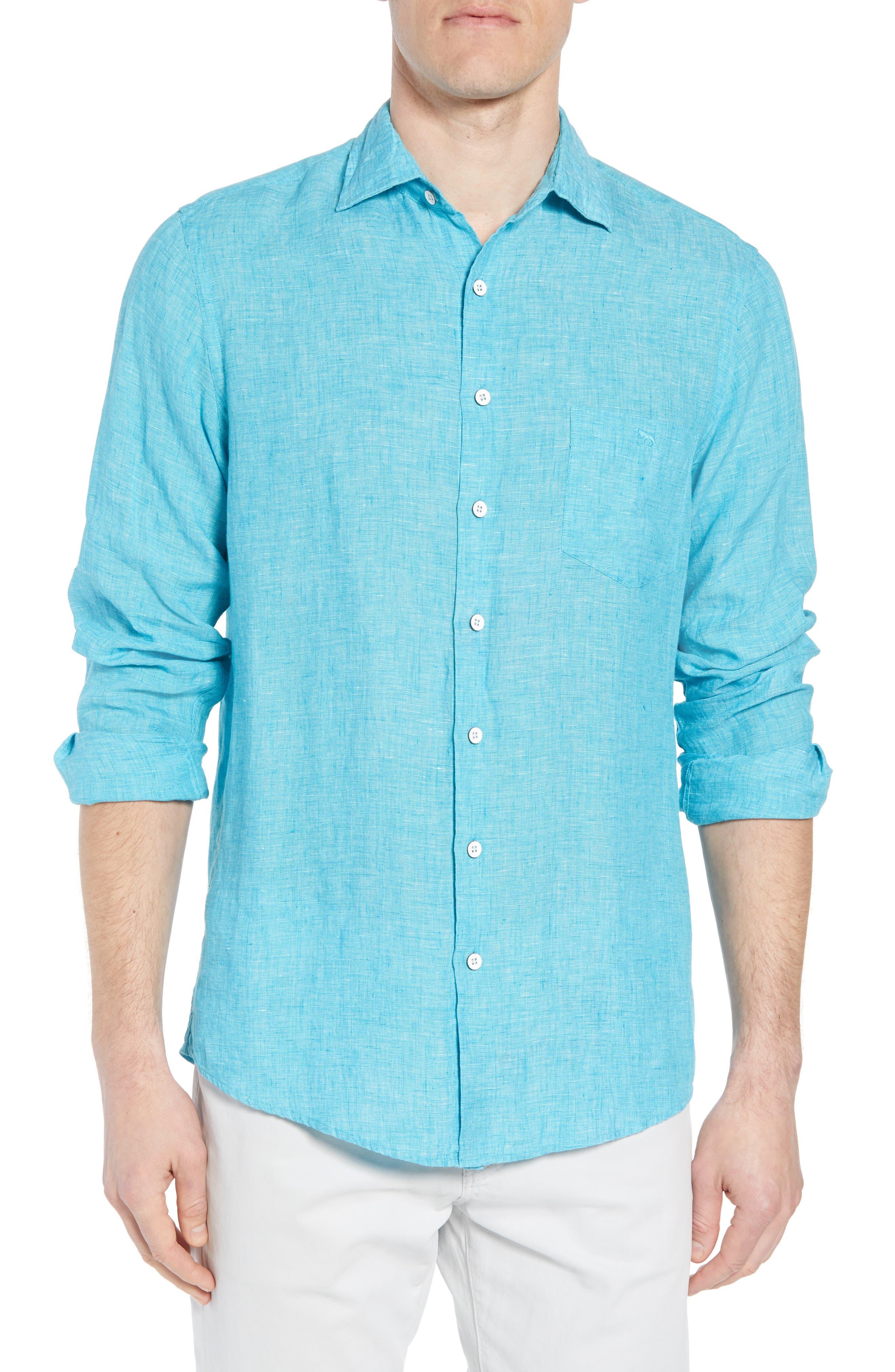 Image of RODD AND GUNN Harris Bay Regular Fit Linen Sport Shirt