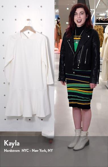 Chalky Flounce Hem Shift Dress, sales video thumbnail
