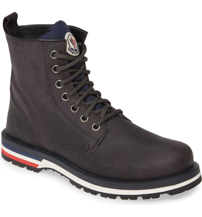 MONCLER New Vancouver Plain Toe Boot, Main, color, SLATE GREY
