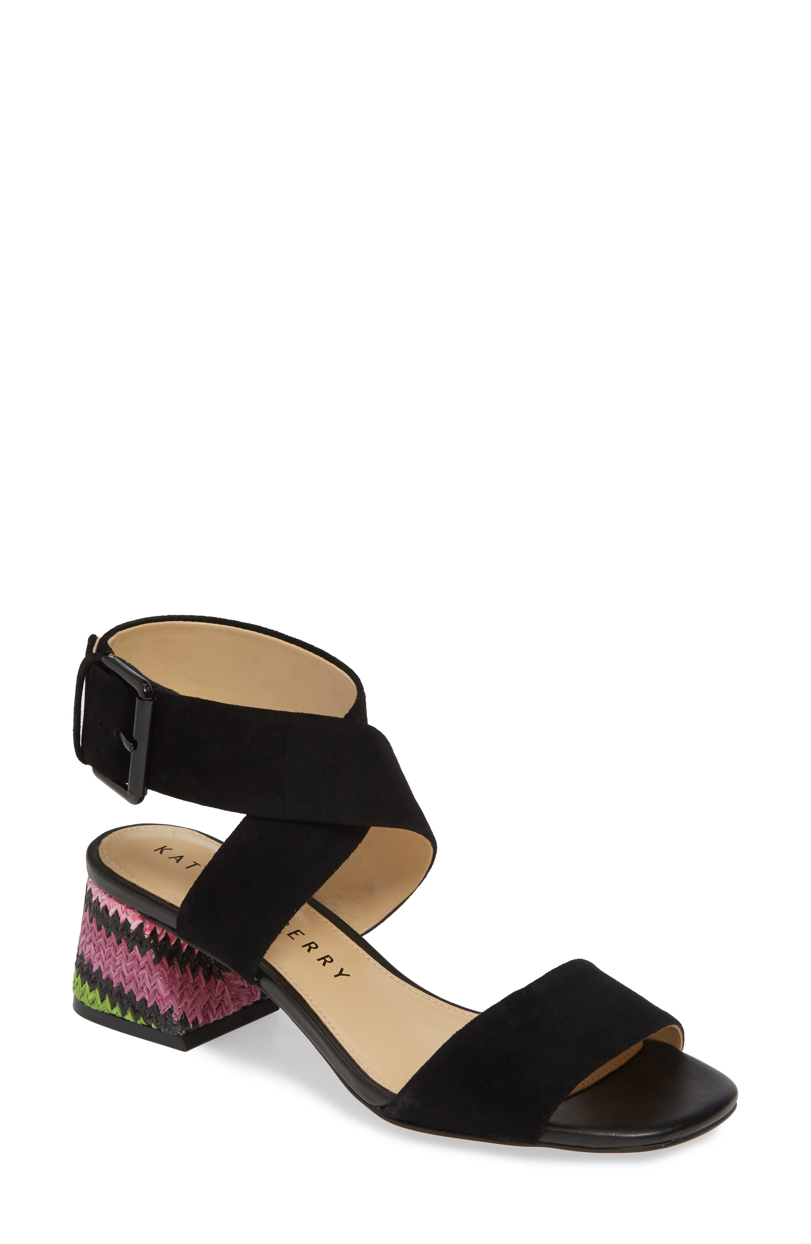 women's katy perry albee sandal, size 6.5 m - black