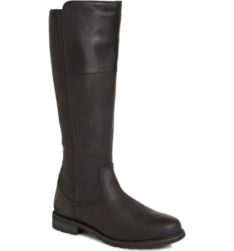 ARIAT Sutton Waterproof Tall Boot, Main, color, BLACK LEATHER