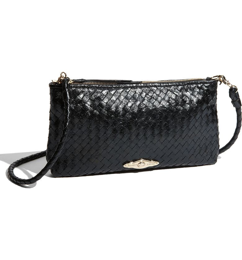 ELLIOTT LUCCA '3-Way' Woven Leather Demi Bag, Main, color, 001
