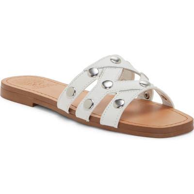 Vince Camuto Vazista Studded Slide Sandal- White