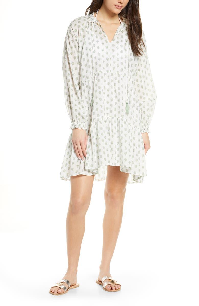 ROLLER RABBIT Colva Cover-Up Tunic Dress, Main, color, WHITE