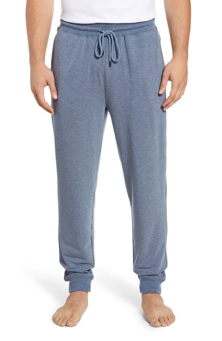 DANIEL BUCHLER Stretch Lounge Pants, Main, color, BLUE HEATHER