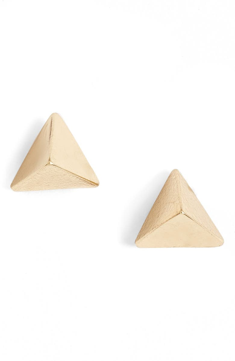 LONNA & LILLY Pyramid Stud Earrings, Main, color, 710