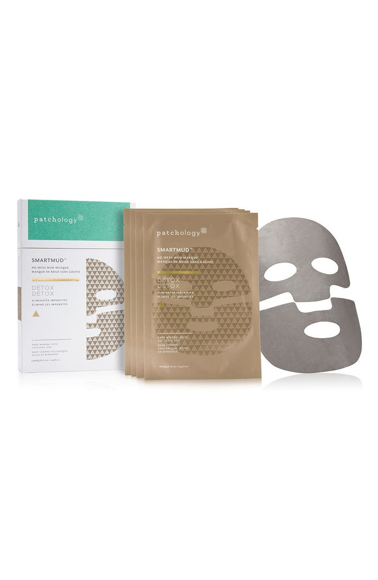 PATCHOLOGY SmartMud<sup>™</sup> Detox No Mess Mud Sheet Mask, Main, color, NO COLOR