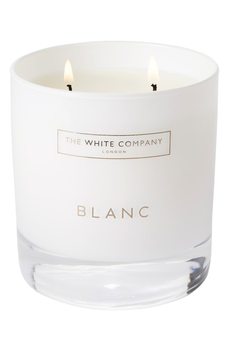 THE WHITE COMPANY Blanc Scented Candle, Main, color, WHITE