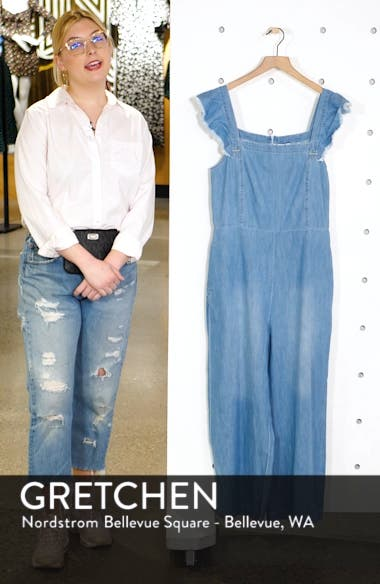 Minnie Flutter Sleeve Chambray Jumpsuit, sales video thumbnail