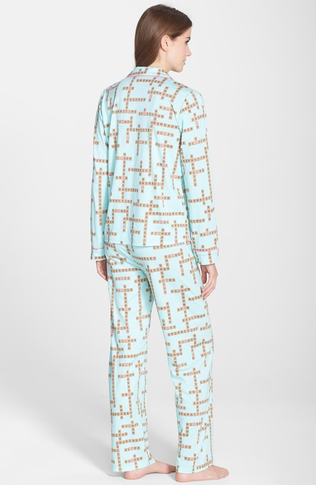 ,                             Print Jersey Pajamas,                             Alternate thumbnail 14, color,                             330