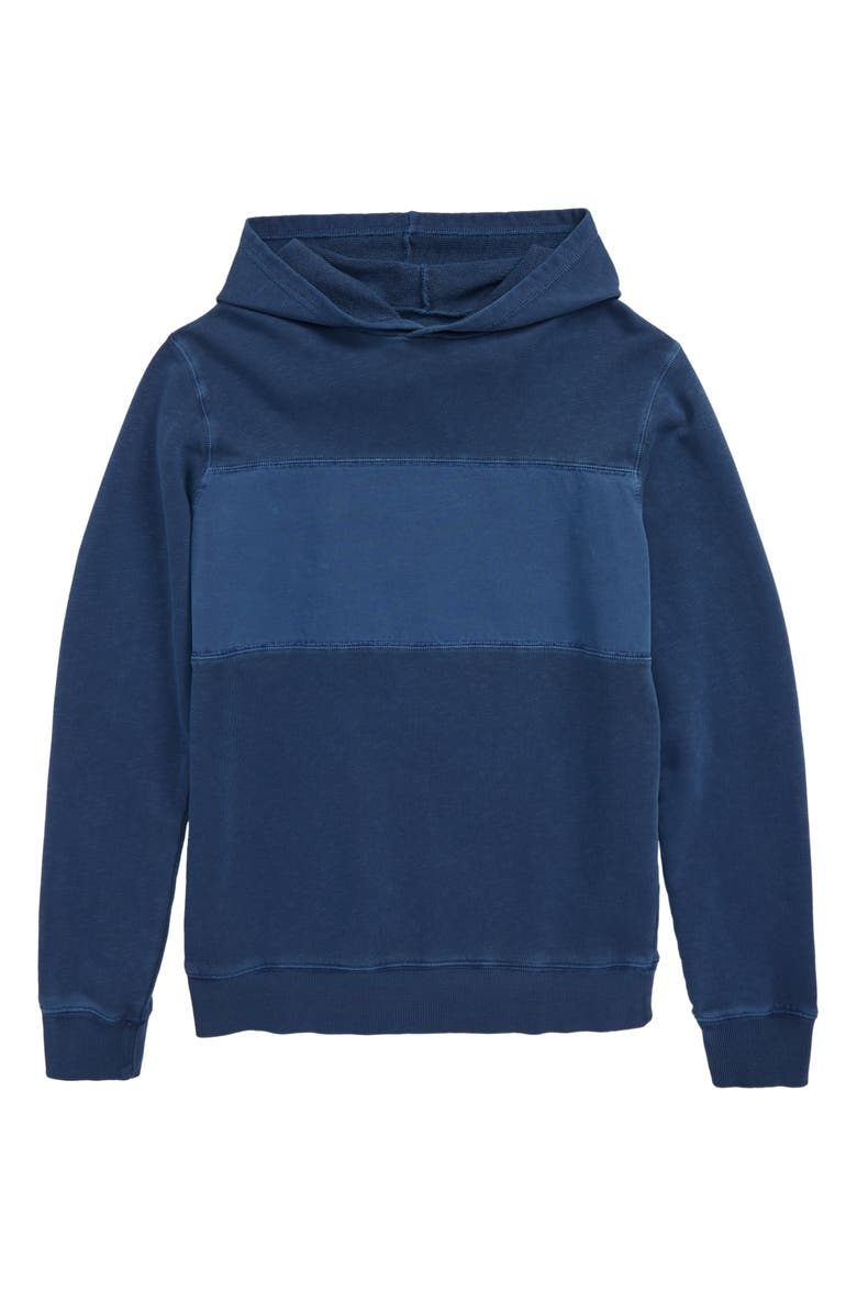 TUCKER + TATE Glacier Lake Hooded Pullover, Main, color, NAVY DENIM